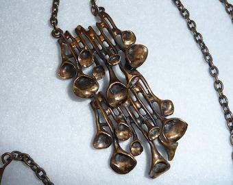 Necklace. Hannu Ikonen. Finland. Bronze. Vintage.