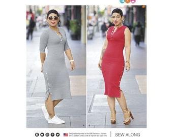 Simplicity Pattern 8334/D0647 Misses' Knit Dress by Mimi G. Size 18-26. New Pattern.