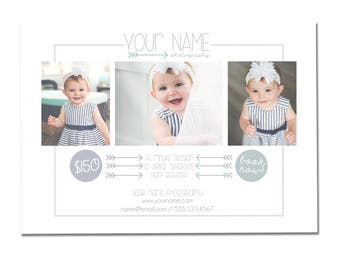 INSTANT DOWNLOAD, Photography Postcard Mini Session Flyer, Marketing Template, 5x7, Mini Sessions, Summer, Spring, Family, Children, Babies