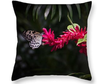 Butterfly Throw Pillow/Pillow Cover.  Colorful Butterfly  Pillow. Nature Outdoor Seat Cushion. Butterfly decor. Butterfly Accent Pillow