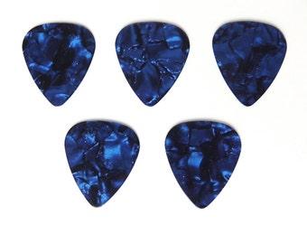 Guitar Pick, Dark Blue, Plectrum, 5 pcs, Pearlised, Deep Blue