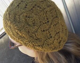 Amelia Beret Knitting Pattern PDF