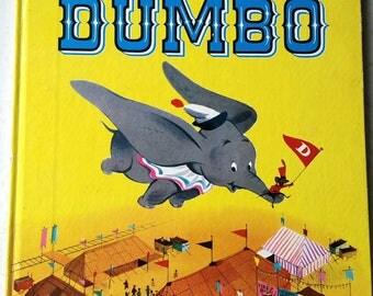 1972 Dumbo Storybook, Sixth Printing 1972 Dumbo Book, Walt Disney's Dumbo, Vintage Children's Book, Dumbo Golden Book, Disney Collectible