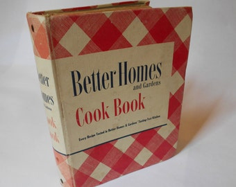 Vintage 1946 Better Homes and Gardens Cook Book Spiral Bound