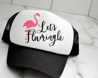 Let's Flamingle Bachelorette Hats Squad Bridesmaid Maid of Honor - Bridal Party Bride to Be