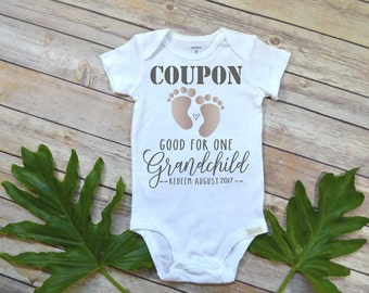 Pregnancy Announcement, Coupon Baby Reveal, Pregnancy Reveal shirt,Expecting Baby shirt, Baby Announcement, Baby Reveal, New Grandparents