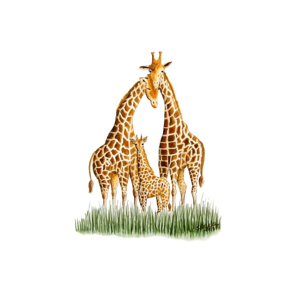 Nursery Wall Decor Giraffe Art Print Safari Nursery Giraffe