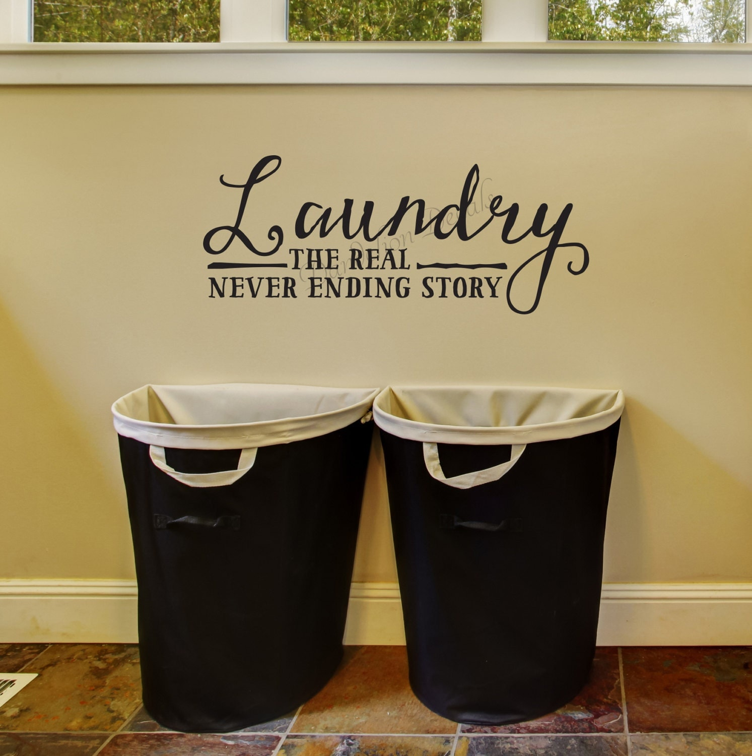 Laundry the real never ending story laundry room wall decal zoom amipublicfo Image collections