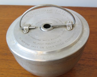 Vintage Grimwades Patent Quick Cooker Pudding Steamer - Rare Aluminium - For your homemade Christmas Pudding!