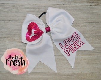 Victoria's Secret Cheer Bow, Cheer Bows, Cheerleading Gifts, Cheer Bows Cheap, Pink, Victoria's Secret Pink,  Cheer Bow