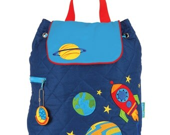 BOYS - SPACE Stephen Joseph  Quilted Backpack  ~ free personalization ~ Lake Martin Monograms