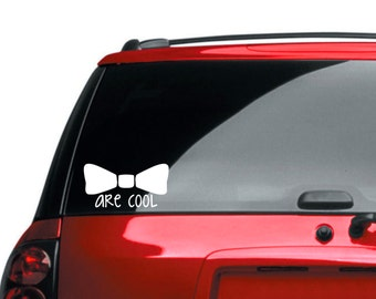 Bowties are cool, Doctor Who Inspired Bowtie decal