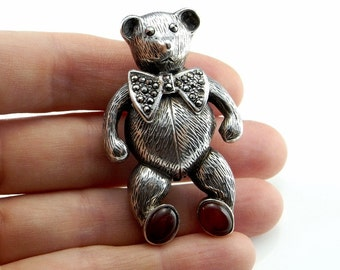 Teddy Bear Jewelry Bear Brooch Marcasite Brooch Animal Brooch Animal Jewelry Marcasite Jewelry Designer Jewelry Teddy Bear Ornament R4330