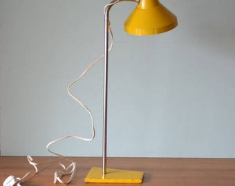 Vintage Industrial yellow industrial goose neck desk lamp