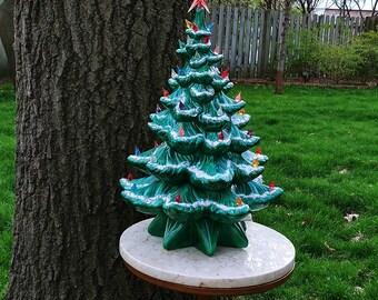 "Vintage 19"" Atlantic Mold Ceramic Christmas Tree"