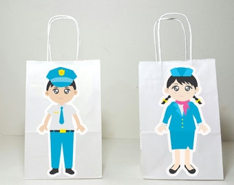 Airplane Party Goody Bags, Airport Goody Bags, Pilot Goody Bags, Flight Attendant Goody Bags, Stewardess Goody Bags (1717955A)