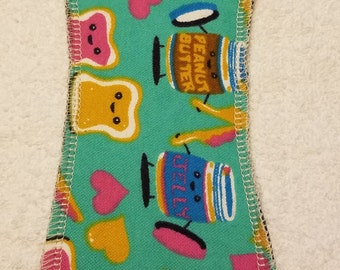Cloth Pad Day Time/8.5 inches Long/ Light Flow- NO WINGS