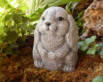 Rabbit Statue,Large Rabbit Statue,Bunny Statue,Garden Rabbit Statue,Outdoor Garden Sculpture, Concrete
