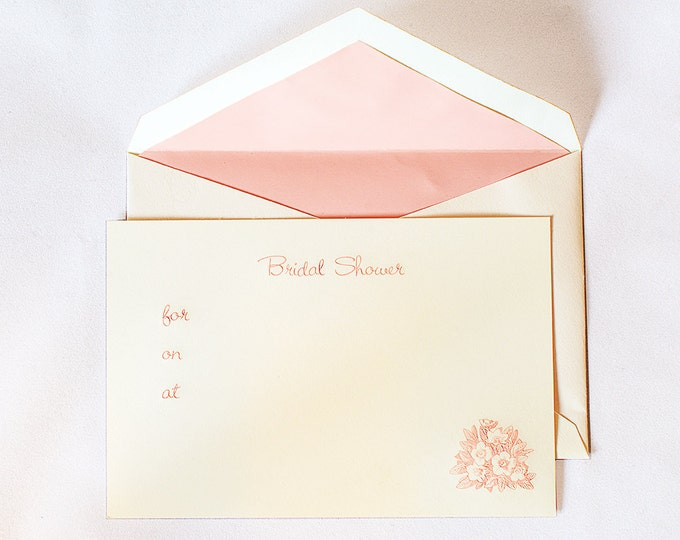 Classic stationers for Bridal shower fill in invitations