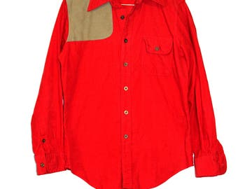 Vintage, Red Corduroy Button Down