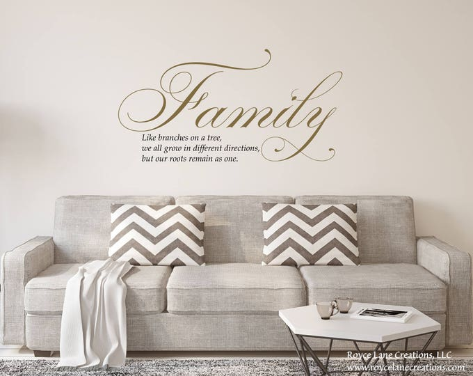 Featured listing image: Family Like Branches on a Tree Wall Decal
