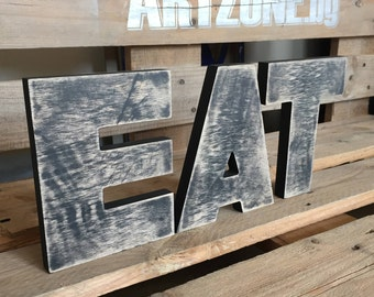 EAT letters- Kitchen Wall Words EAT- EAT Sign-