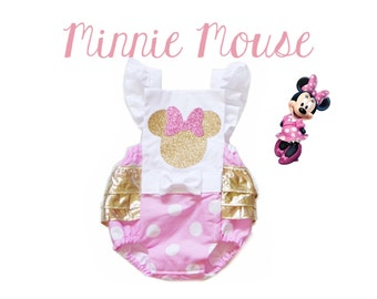 The ORIGINAL / Minnie Mouse Inspired Ruffle Romper / Birthday Romper / Romper