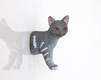 "Fridge Magnet ""Grey-white tabby"""