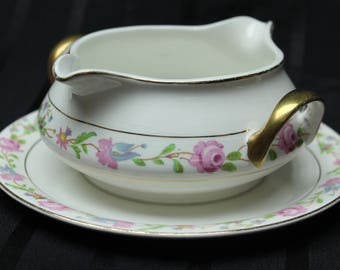 C. 1930-1940 Edwin M. Knowles China Co. Vitreous Two Sided Gravy Boat