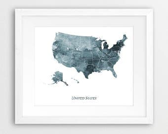 United States Wall Art united states map | etsy