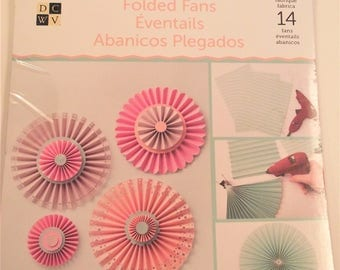 DIY FAN PROJECT Stack,Folded Fans,Party Decorations,Paper Crafts,Craft Supplies,Party Supplies,Pinwheel Fans
