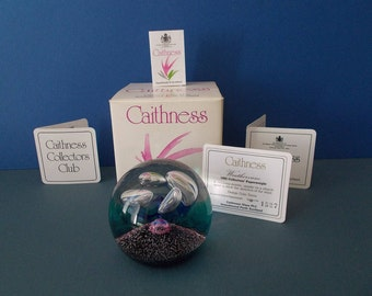 "Caithness Glass Paperweight ""Weathervane"" by Colin Terris 1992 Limited Edition  No. 1527 with certificate and Boxed"