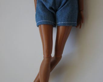 Jean shorts for 11.5 inch dolls such as barbie