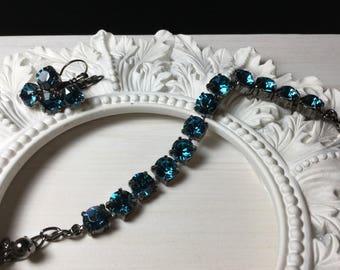 Swarovski Elements Bracelet / Earrings