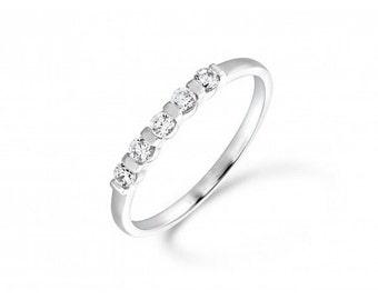 0.25ct Diamond Half Band Eternity Ring