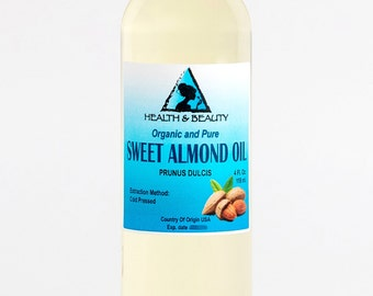 4 oz SWEET ALMOND OIL Organic Carrier Cold Pressed 100% Pure