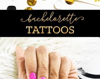 Bachelorette Tattoos Bride Tribe Tattoos Bachelorette Party Tattoos Bachelorette Party Favors Bridesmaid Favors (EB3195) - set of 6 tattoos