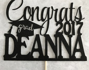 Graduation Cake Topper, Graduation Party decor, Congrats Grad, Graduation Party, Graduation 2017, Graduation Cake, Graduate, Class of 2017,