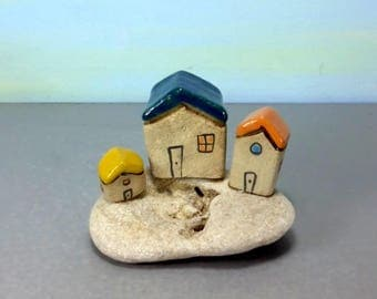 Ceramic house, Miniature house, ceramics and pottery, Rustic home decor, Small house, Little house, Ceramic miniature,  Clay house, Israel