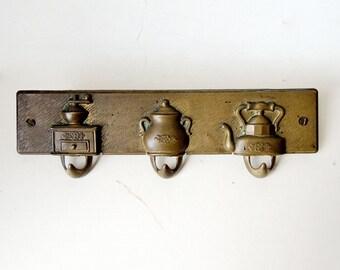 """Copper Hook Rack for Tea Towels 11 x 3.1"""""""