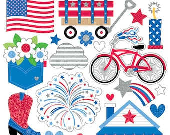 NEW & ON SALE! Yankee Doodle Icons Sticker from Doodlebug Design