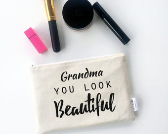 Gifts for Grandma - Nana Gifts - Makeup Bag - Grammy Gift - Grandma Gift - Gifts for Grandparents - Mothers Day Gifts for Grandma