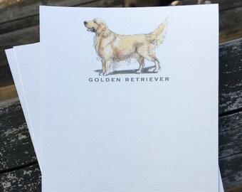 Golden Retriever Note Card Set