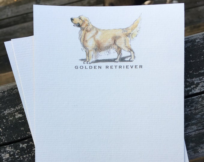 Golden Retriever Note Card Set
