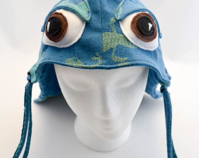 Custom Order for Amy C. - Hoodie Hood and Reach Straps Set, Tula Accessories - Gecko with Eyes