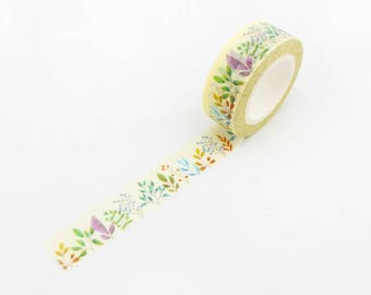 Floral Garden Washi Tape - Bullet Journal, Plant Washi Tape, Floral Stationery, Planner Stickers, Scrapbooking, Craft Supplies, Masking Tape
