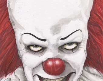 IT Pennywise The Clown Tim Curry Stephen King Poster Print Chris Oz Fulton