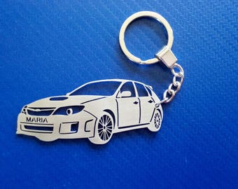 Subaru WRX Key chain, Car Keychain, Personalized Keychain, Keychain for SUBARU, Custom Keychain, Stainless Steel Keyring, Original Gift