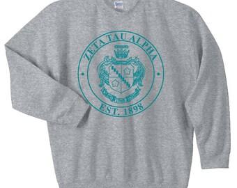 Zeta Tau Alpha Crest Sweatshirt