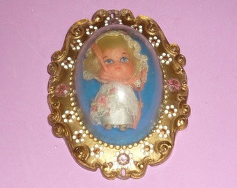 Mattel Lucky Locket Kiddle - Larky Locket Kiddle Doll with Case from 1967-70
